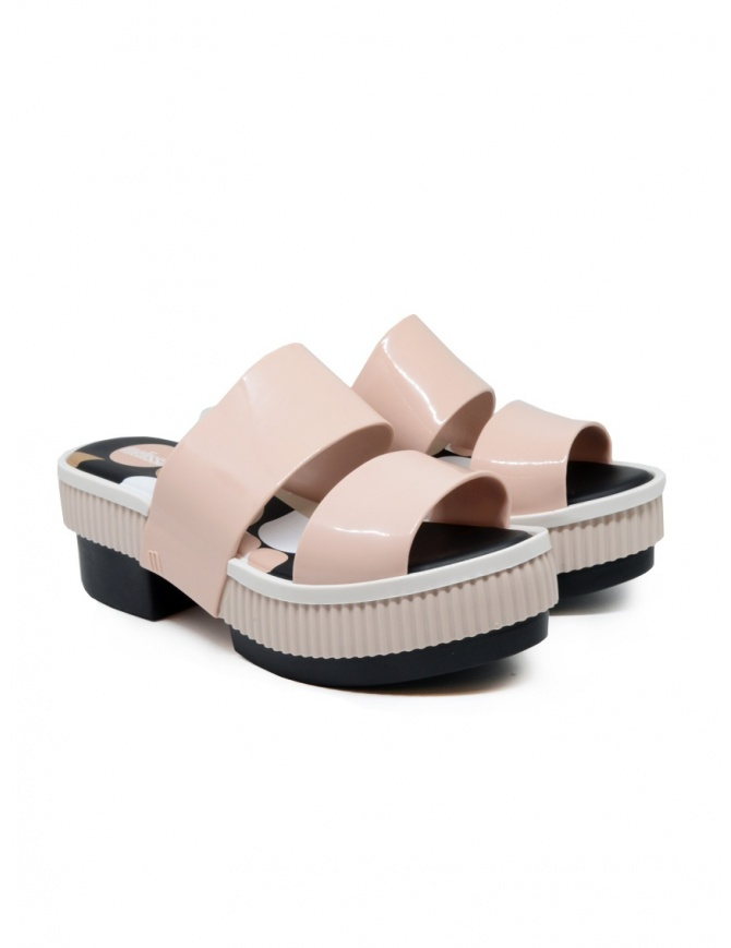 Melissa Geometric Rupture + Carla Colares pink and black sandals 32876 54020 PINK RUPTUR womens shoes online shopping