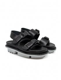 Calzature donna online: Trippen sandali Back neri in pelle
