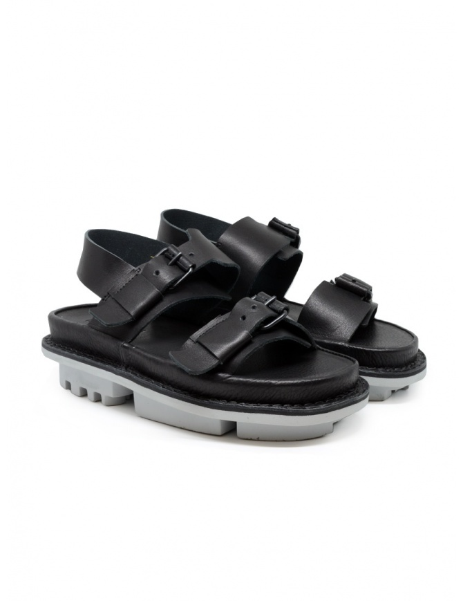 Trippen Back sandals in black leather BACK F WAW BLACK womens shoes online shopping