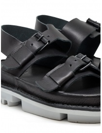 Trippen Back sandals in black leather womens shoes buy online