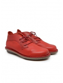 Womens shoes online: Trippen Escape red leather lace-up shoes