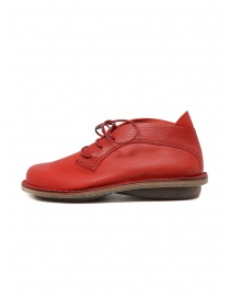 Trippen Escape red leather lace-up shoes