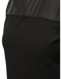 European Culture camicia senza maniche semitrasparente nera