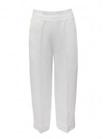 European Culture pantaloni ampi bianchi in lino e cotone online