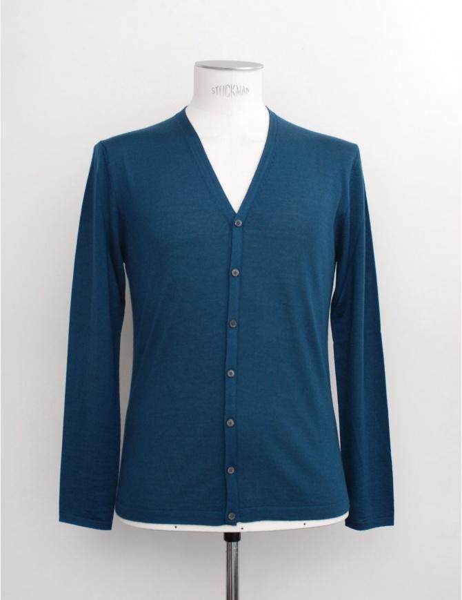 Adriano Ragni petrol green cardigan 16 18 004 01 RG GREEN GR 03 mens knitwear online shopping