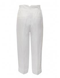 European Culture pantaloni ampi bianchi in lino e cotone