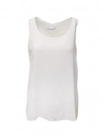 European Culture wide sleeve white tank top online