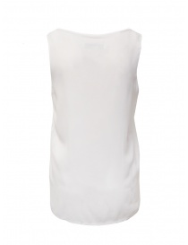 European Culture wide sleeve white tank top