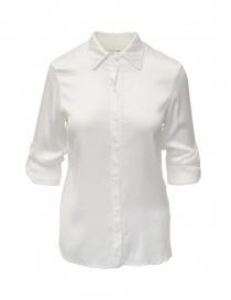 Camicie donna online: European Culture camicia bianca con maniche arrotolate