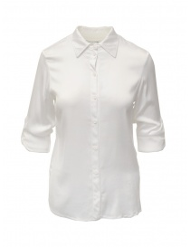 European Culture white shirt with rolled up sleeves online