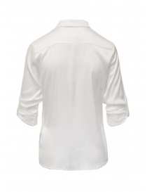 European Culture camicia bianca con maniche arrotolate