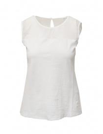European Culture camicia senza maniche semitrasparente bianca online