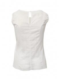 European Culture camicia senza maniche semitrasparente bianca