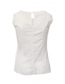 European Culture white semi-transparent sleeveless shirt