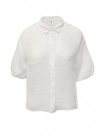 European Culture camicia bianca a mezza manica online