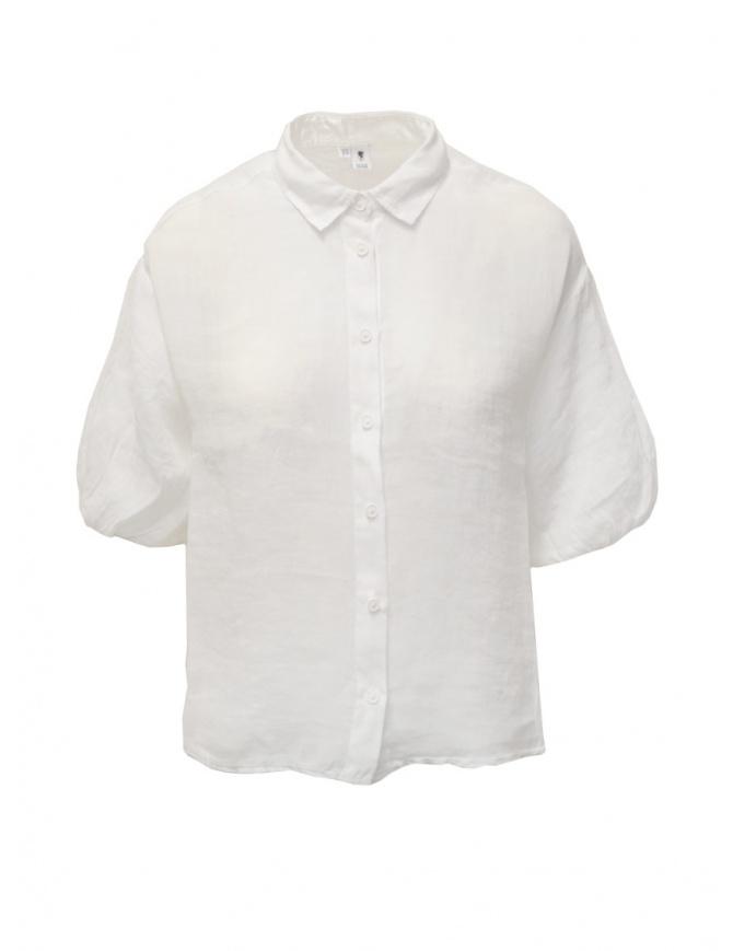 European Culture white half sleeve shirt 67BU 7027 1101 WHT womens shirts online shopping