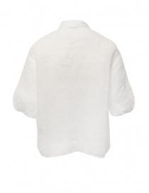European Culture camicia bianca a mezza manica