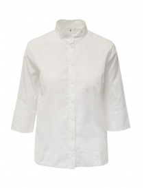European Culture Mandarin collar white shirt 65YU 7504 1101 WHT order online