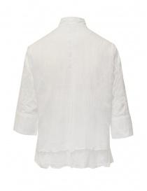 European Culture camicia bianca con collo alla coreana