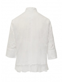 European Culture Mandarin collar white shirt