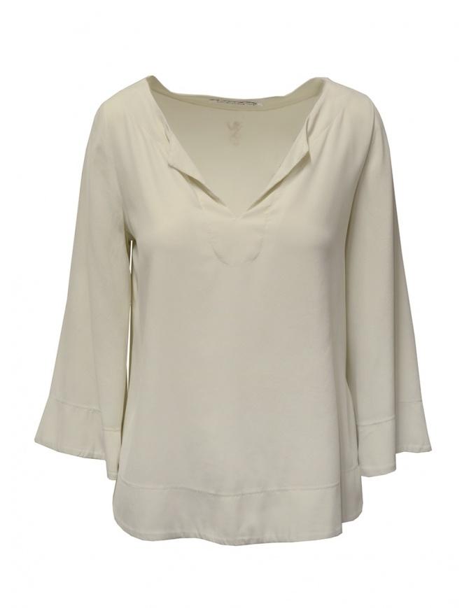 European Culture bell sleeve blouse in light beige M/L 35BU 6683 1618 womens t shirts online shopping