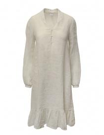 Abiti donna online: European Culture abito lungo in misto lino color écru