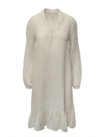 European Culture long dress in ecru linen blend M/L 10GU 7023 1618 order online