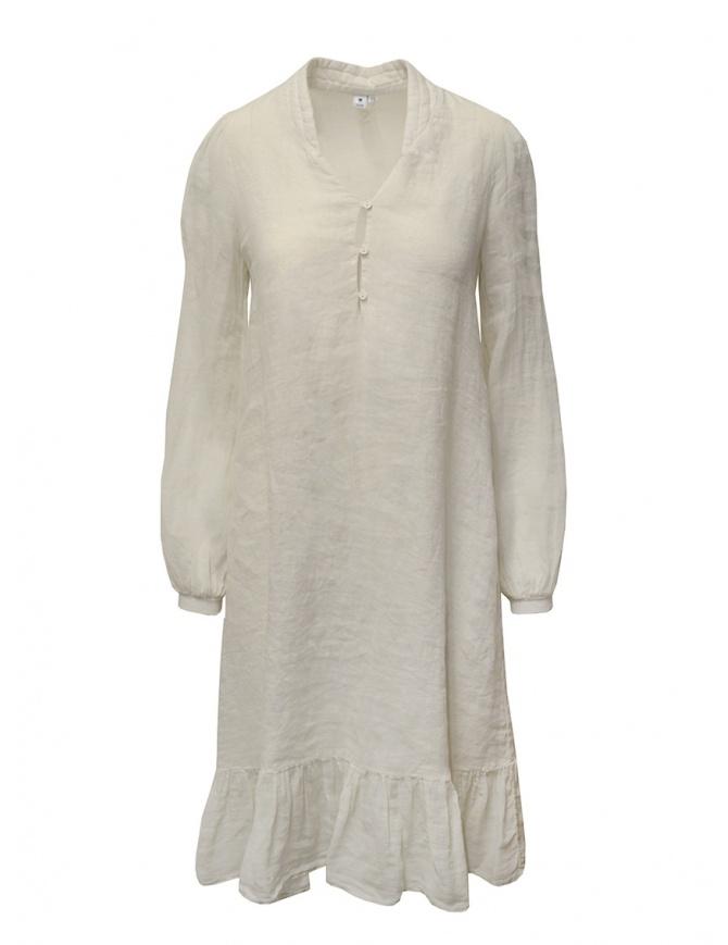 European Culture long dress in ecru linen blend M/L 10GU 7023 1618 womens dresses online shopping