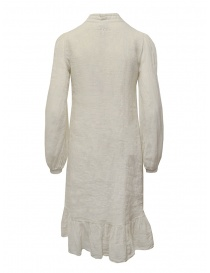 European Culture long dress in ecru linen blend