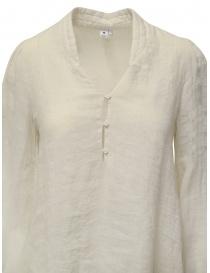 European Culture long dress in ecru linen blend price