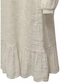 European Culture long dress in ecru linen blend womens dresses buy online