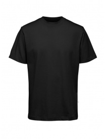 Selected Homme t-shirt nera in cotone organico online