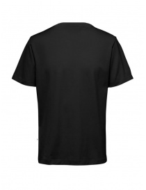 Selected Homme t-shirt nera in cotone organico