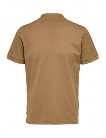 Selected Homme cappuccino polo shirt in organic cotton piqué