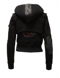 D.D.P. 2 in 1 black bomber jacket with detachable hood