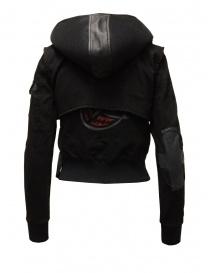 D.D.P. 2 in 1 black bomber jacket with detachable hood buy online