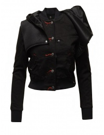 D.D.P. 2 in 1 black bomber jacket with detachable hood buy online price