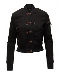 D.D.P. 2 in 1 black bomber jacket with detachable hood womens jackets buy online