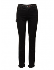 D.D.P. black jeans with leather details online