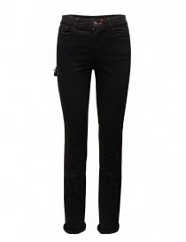 D.D.P. jeans neri con dettagli in pelle online