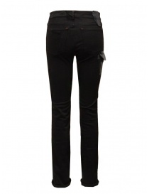 D.D.P. black jeans with leather details