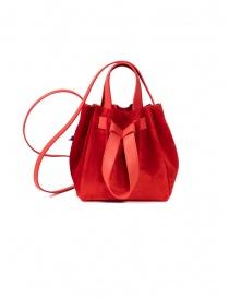 Bags online: D'Ottavio Dot Line red suede bucket bag