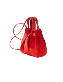 D'Ottavio Dot Line red suede bucket bag