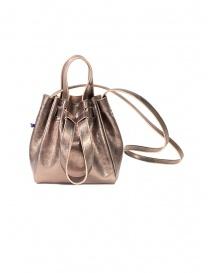 Bags online: D'Ottavio bucket in golden pink laminated buffalo leather
