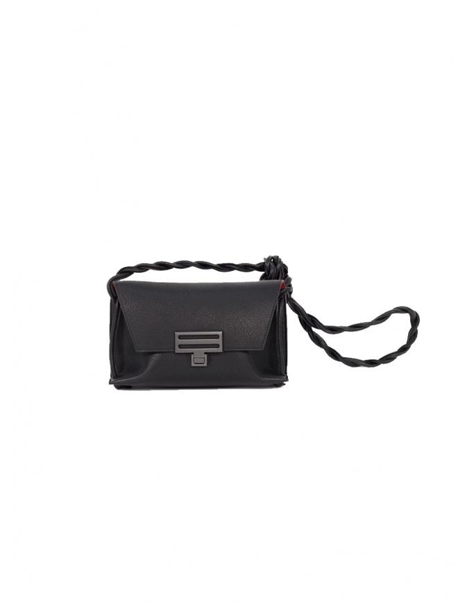 D'Ottavio Dot Line mini shoulder bag in black leather D08JRCR999SU300 bags online shopping