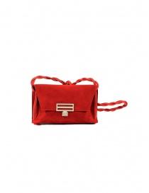D'Ottavio Dot Line D08JR mini borsa a tracolla rossa scamosciata online