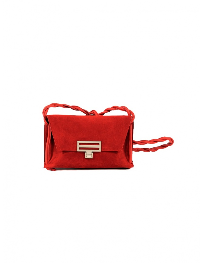 D'Ottavio Dot Line D08JR mini red shoulder bag in suede D08JRSU300VO301 bags online shopping