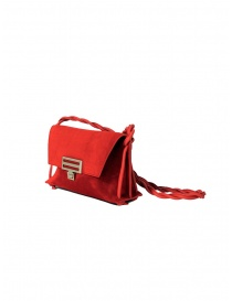 D'Ottavio Dot Line D08JR mini red shoulder bag in suede