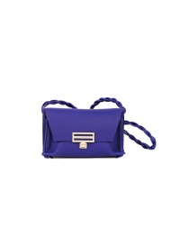 D'Ottavio Dot Line Jr blue mini clutch bag with shoulder strap online