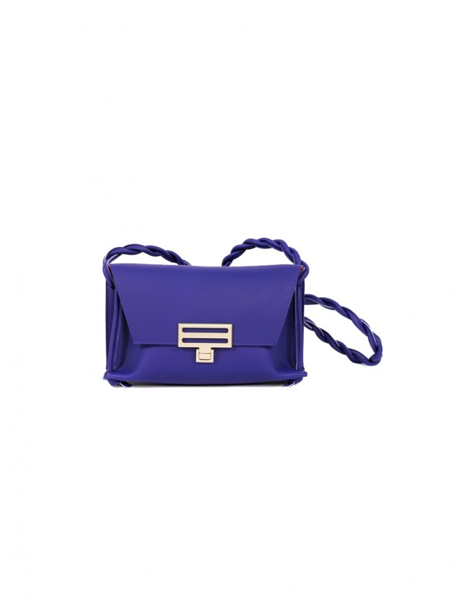 D'Ottavio Dot Line Jr blue mini clutch bag with shoulder strap D08JRVO601SU301 bags online shopping